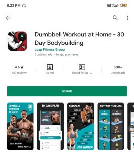 dumbbell workout at home app
