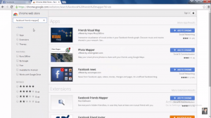 Facebook friend map extension in google chrome browser