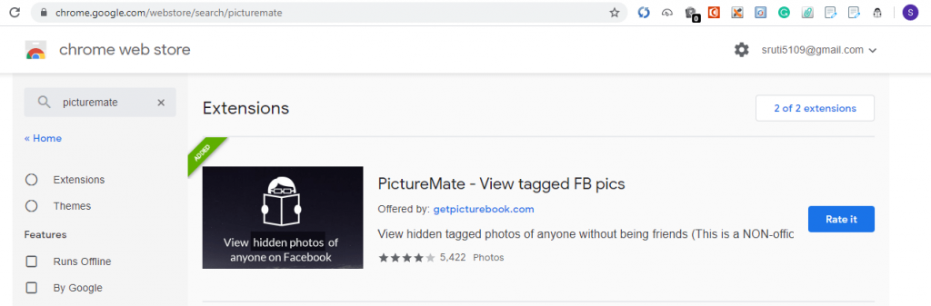 picture mate extension for chrome web browser