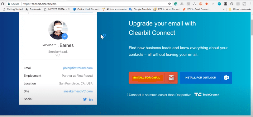 clearbit connect access permission