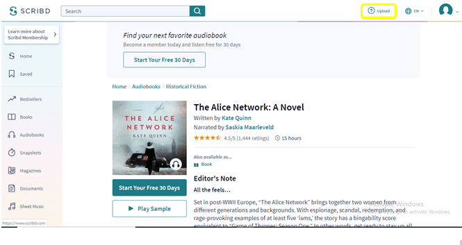 Scribd select the document to download