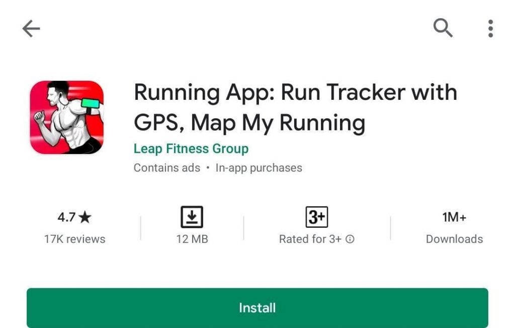 Running app in android
