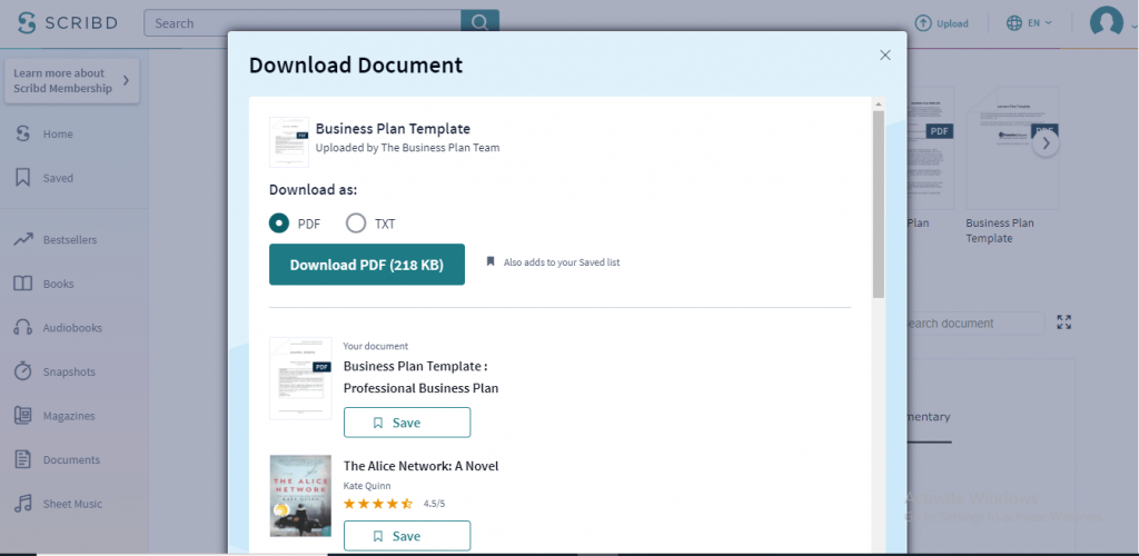 choose the download document text or PDF