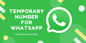 Temporary number for WhatsApp