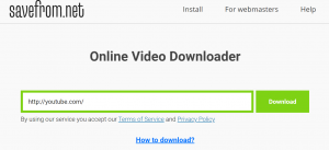 savefromnet video download using ss
