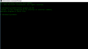 Telnet command in command prompt for windows