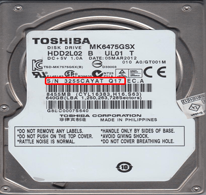 toshiba hard disk drive