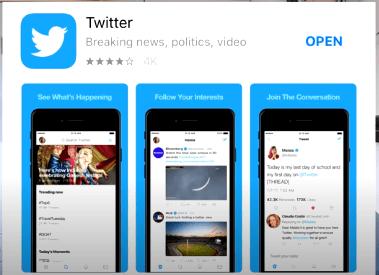 Twitter installation