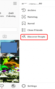 Instagram find and discover people option