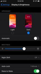 Auto lock option for iPhone
