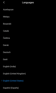 Change the english united states default language settings for android