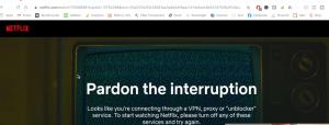 VPN error: Interruption shows on netflix