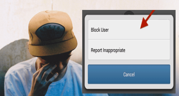 May be user has blocked you