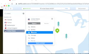 Choose the best server for vpn connection and access the netflix