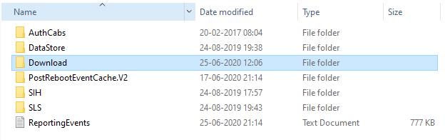 delete all the files in download folder