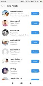 Find peoples on Instagram