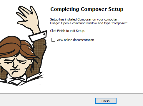 finish the composer installation