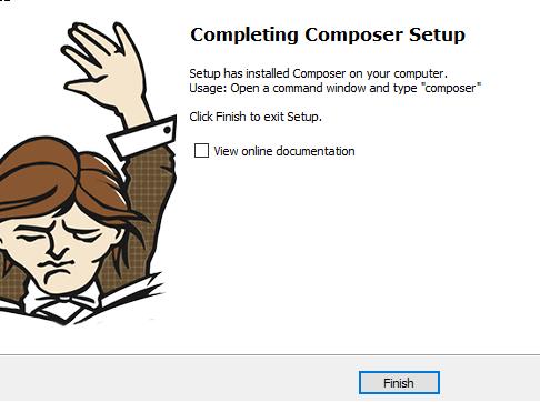 finish the composer installation