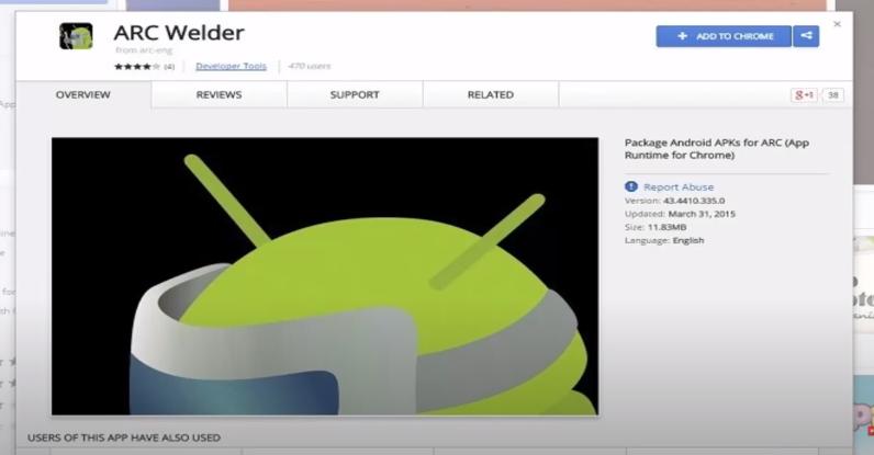 ARC Welder google chrome extension