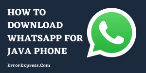 How to download WhatsApp for java phone