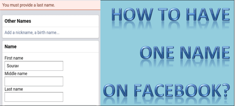 How to have one name on Facebook