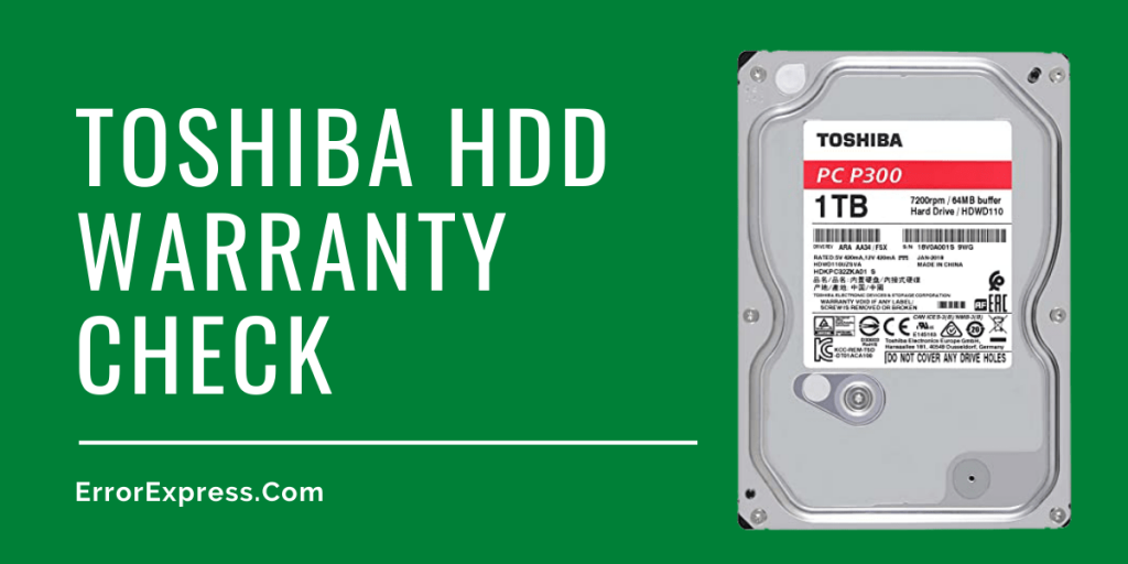 Toshiba HDD Warranty Check