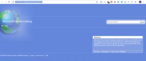 windows update catalog homepage