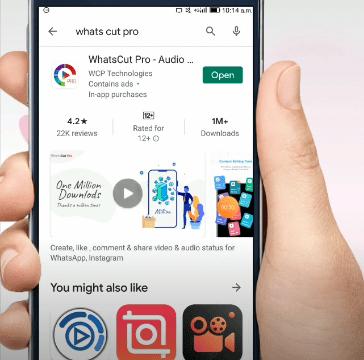 Open whatscutpro android application