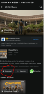 download button to downloading hotstar videos