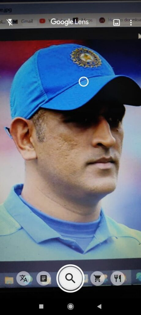 search the camera on ms dhoni images