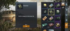 How to get rename card in PUBG mobile