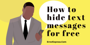 How to hide text messages for free