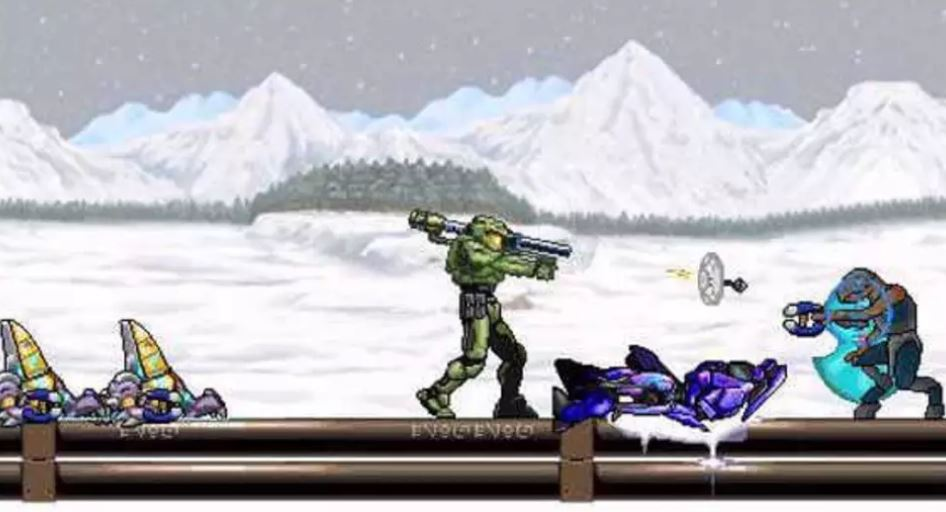 CSPSP: Halo 2D - Homebrew Games on PSP
