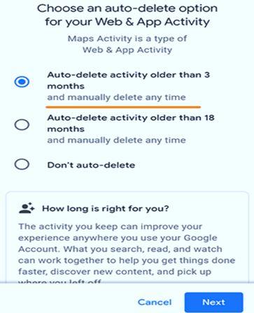 Auto delete activity
