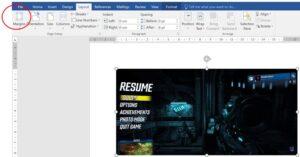 Margin option in word document