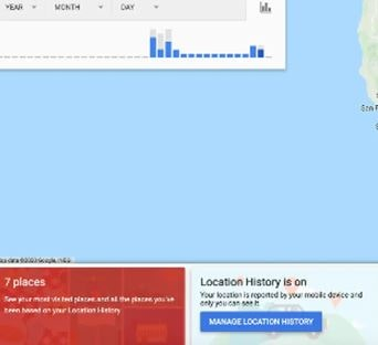 Find the visited places on google maps