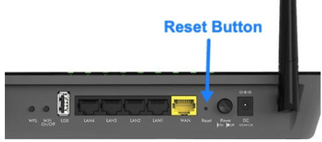 Reset the Wi-Fi Router using Reset button on network device