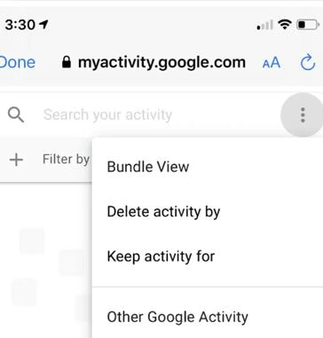 Delete activity by option
