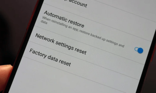 Reset Smart Phone Device using Factory data reset