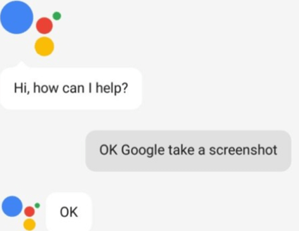 Ok Google, take a screenshot- command in google assistant for mobile device