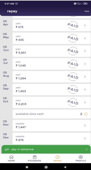 Repay screenshot mobile