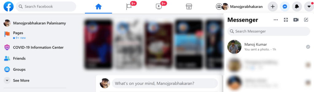 Messenger Icon Screen