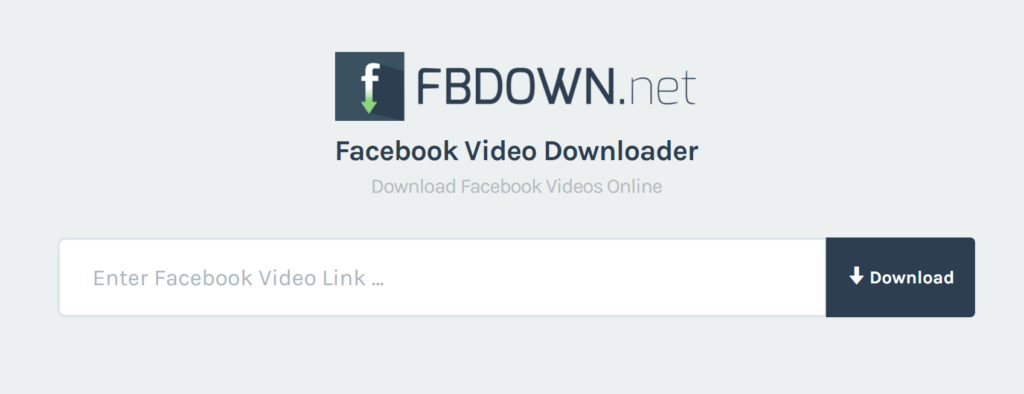 Fbdown.net homepage