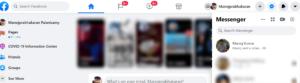 Facebook click the messenger icon
