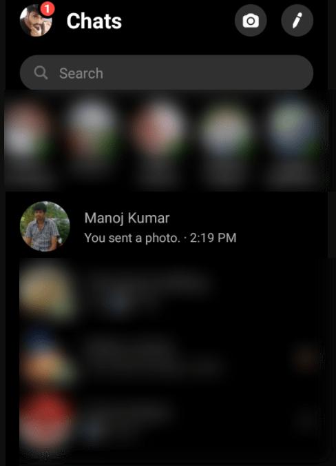 open the Facebook messenger conversation