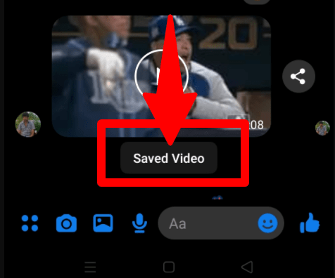 saved video in phone storage