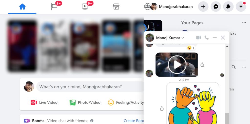 Facebook Popup Chat Window