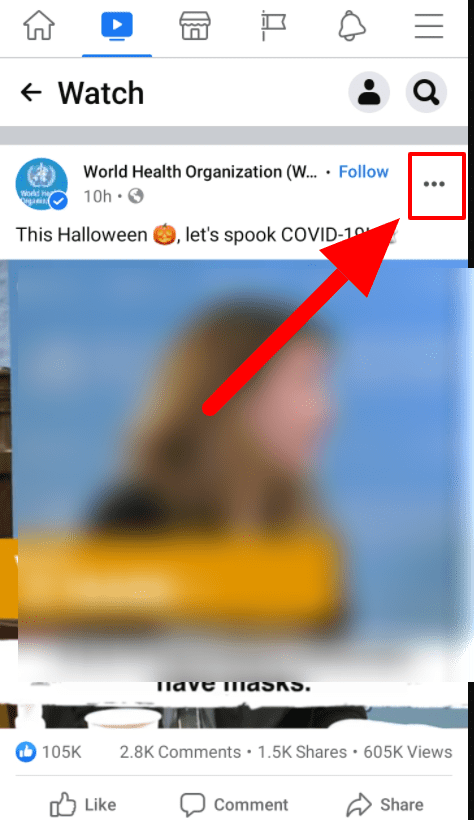 click the three dotted line icon
