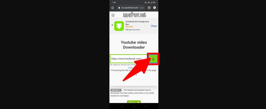 Click the video Download icon