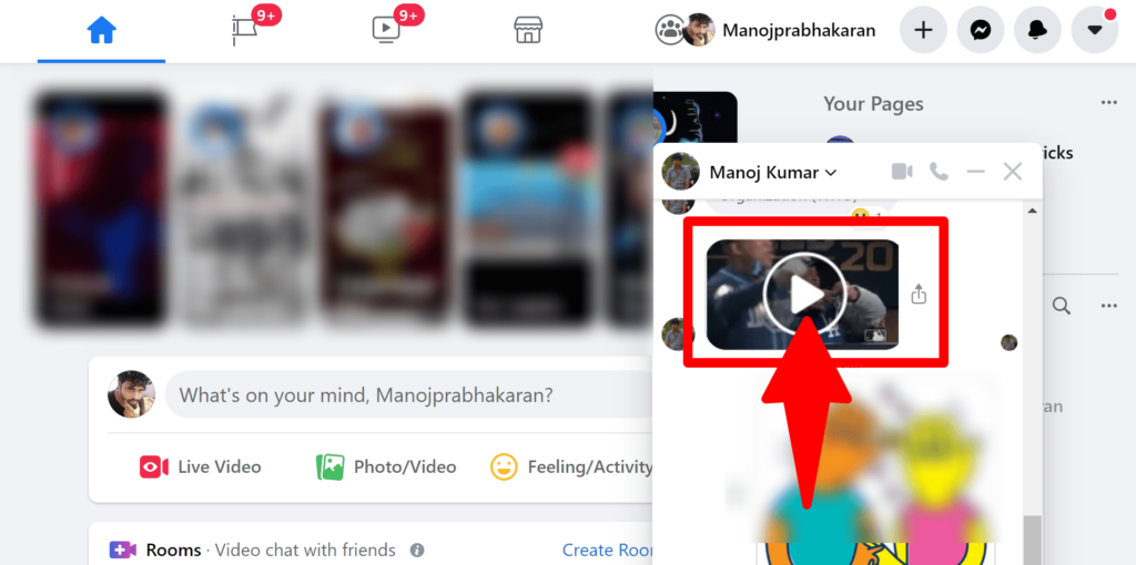 Find the conversation for Facebook Direct Video